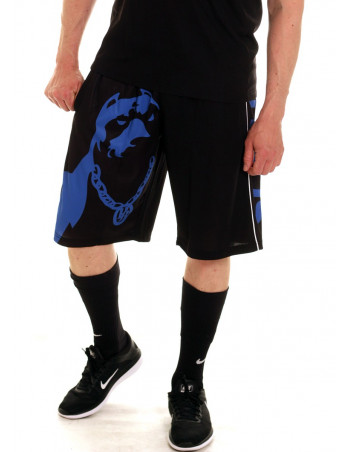Pitbos Shorts Dog Logo Blue