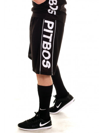 Pitbos Logo Shorts BLackNWhite