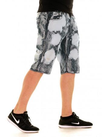 Acid Wash Shorts Indigo