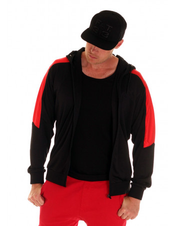 BSAT Panther Track Jacket BlackNRed