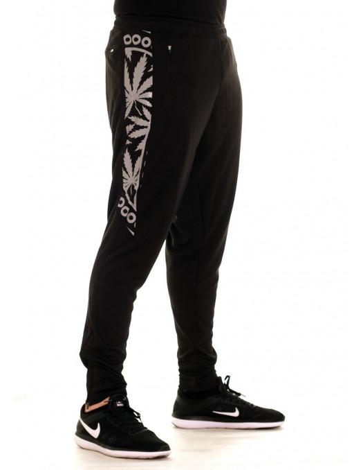 BSAT Smokin Track Pants Black Silvergrey