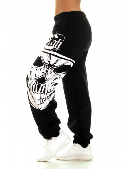 Cali Skull Sweatpants Black by BSAT