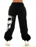 Cali Skull Sweatpants Black by BSAT