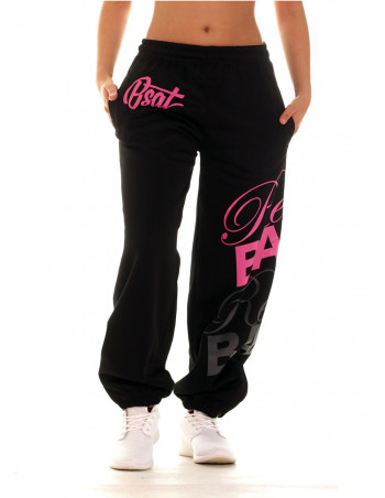 RebelBabe Black Sweatpants PinkNGrey by BSAT