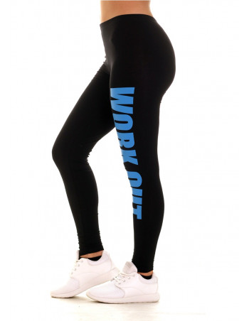 Work Out Leggins BlackNSkyBLue