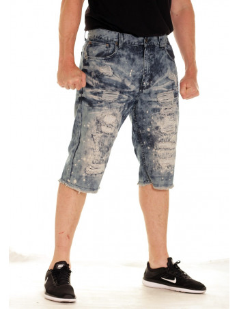 Urban Rip & Repair Shorts Dark Indigo