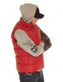 Solid Bubble Vest Red
