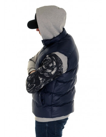 Solid Bubble Vest Navy