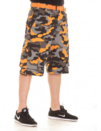 Camo Cargo Shorts BlackNOrange