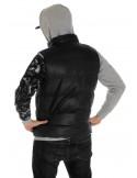 Solid Bubble Vest Black