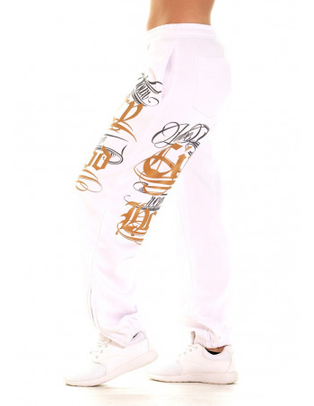 Hood Ladies Sweatpants WhiteNGold by BSAT