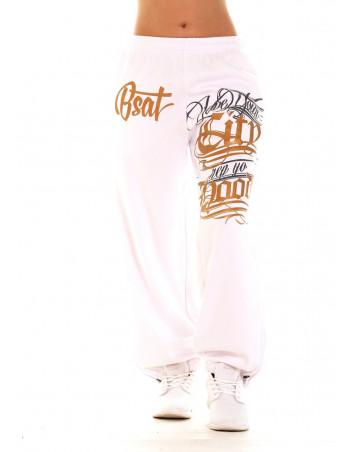 Hood Ladies Sweatpants WhiteNGold by BSAT