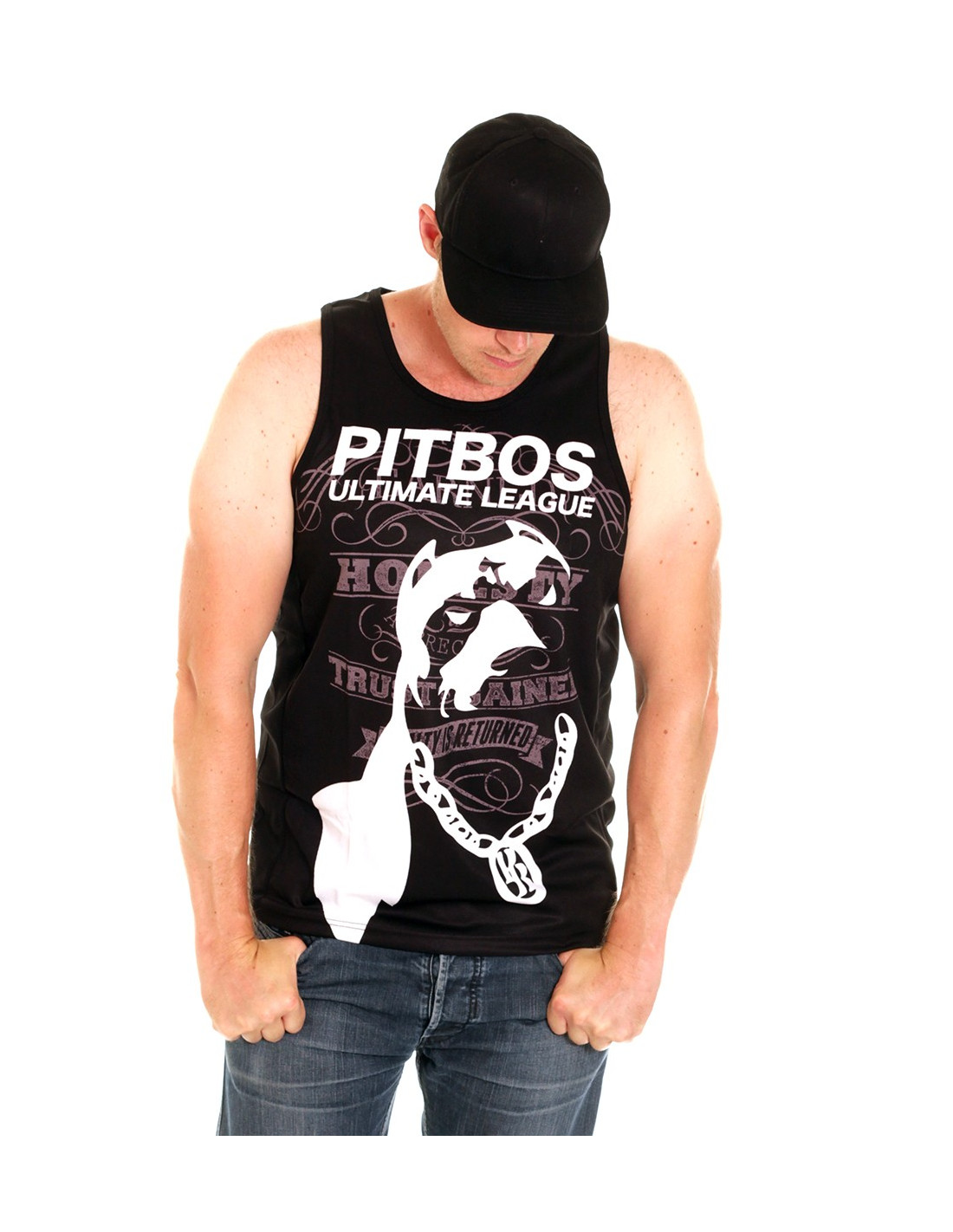 Pitbos Vol.2 Ultimate League Tanktop BlackNWhite
