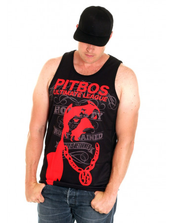 Pitbos Vol.2 Ultimate League Tanktop BlackNRed