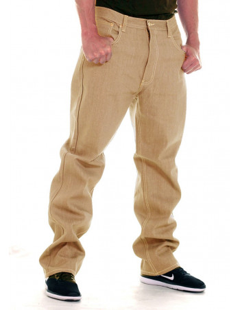 Access Loose Fit Jeans Khaki