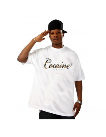 Cocaine Life brandlogo T-Shirt White