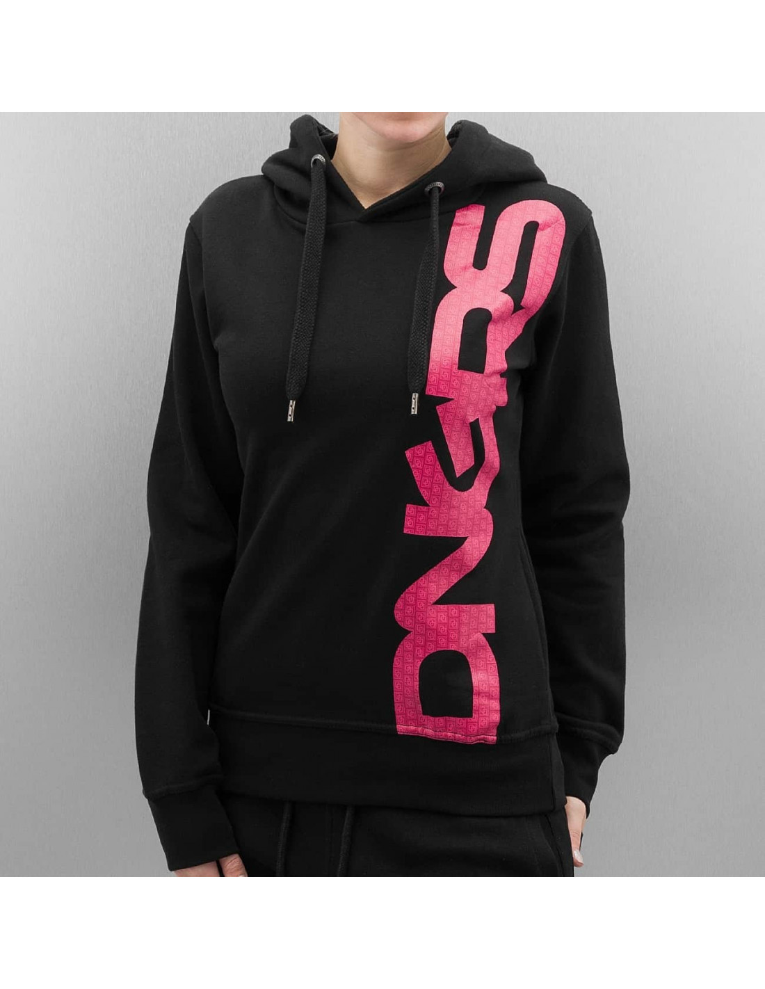 Large Logo Hoodie BlackNPink by DNGRS