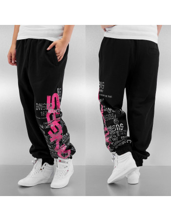 Lyric Sweatpants BlackNPink by DNGRS