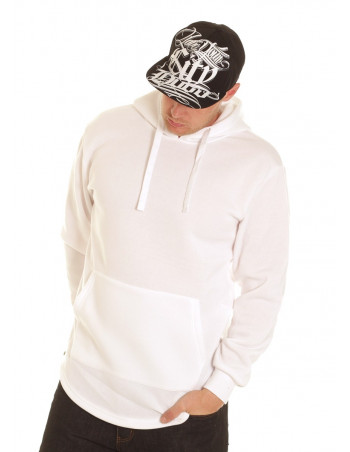 Access Side Zipper Hoodie White