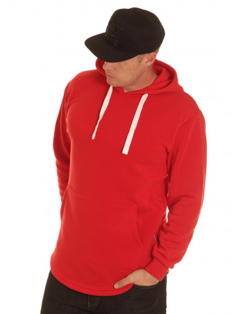 Access Side Zipper Hoodie Red