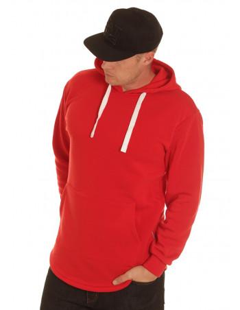 Access Side Zipper Hoodie Red