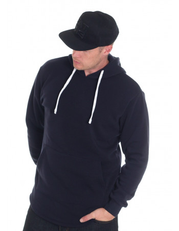 Access Side Zipper Hoodie Navy