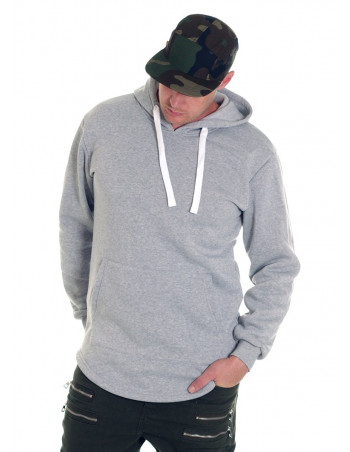 Access Side Zipper Hoodie Light Grey