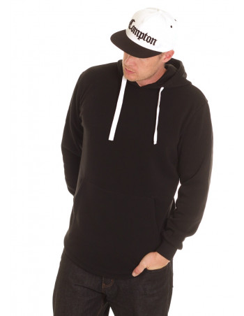 Access Side Zipper Hoodie Black