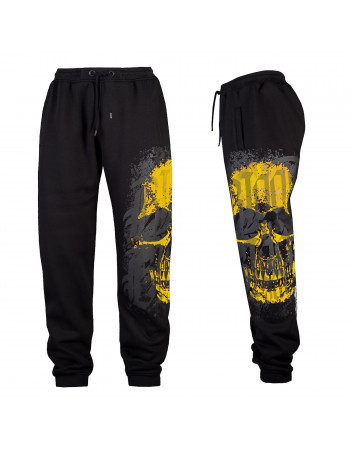 Skull Sweatpants BlackNYellow by Blood In Blood Out
