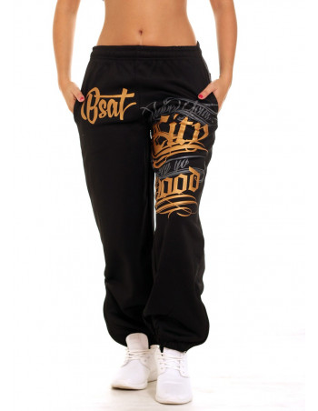 Hood Sweatpants BlackNGold by BSAT