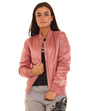 Urban Satin Bomber Jacket OldRose