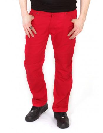 Biker Twill Pants Red