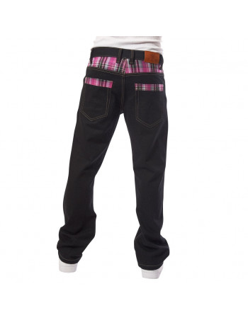 Townz Loose Fit Jeans Berry Purple