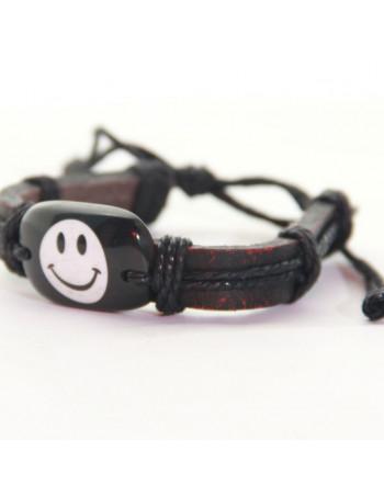 Armbånd - Smiley hvid