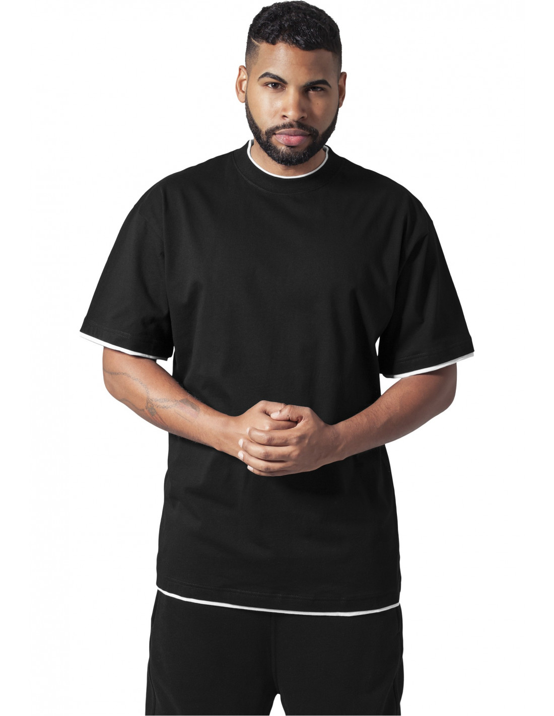 Urban 2-tone t-shirt black / white
