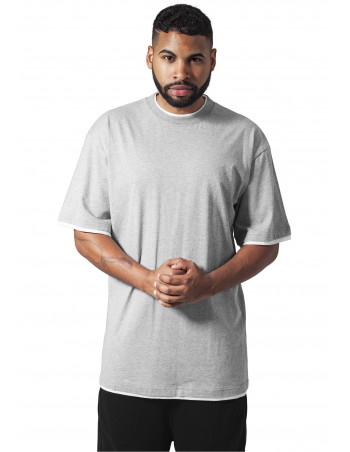 Contrast Tall Tee Grey White