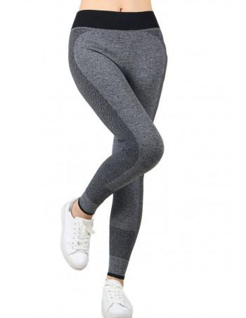Sporty Fashion Leggings GreyNBlack