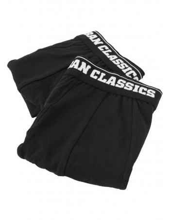 Men Boxer Shorts Double Pack Black