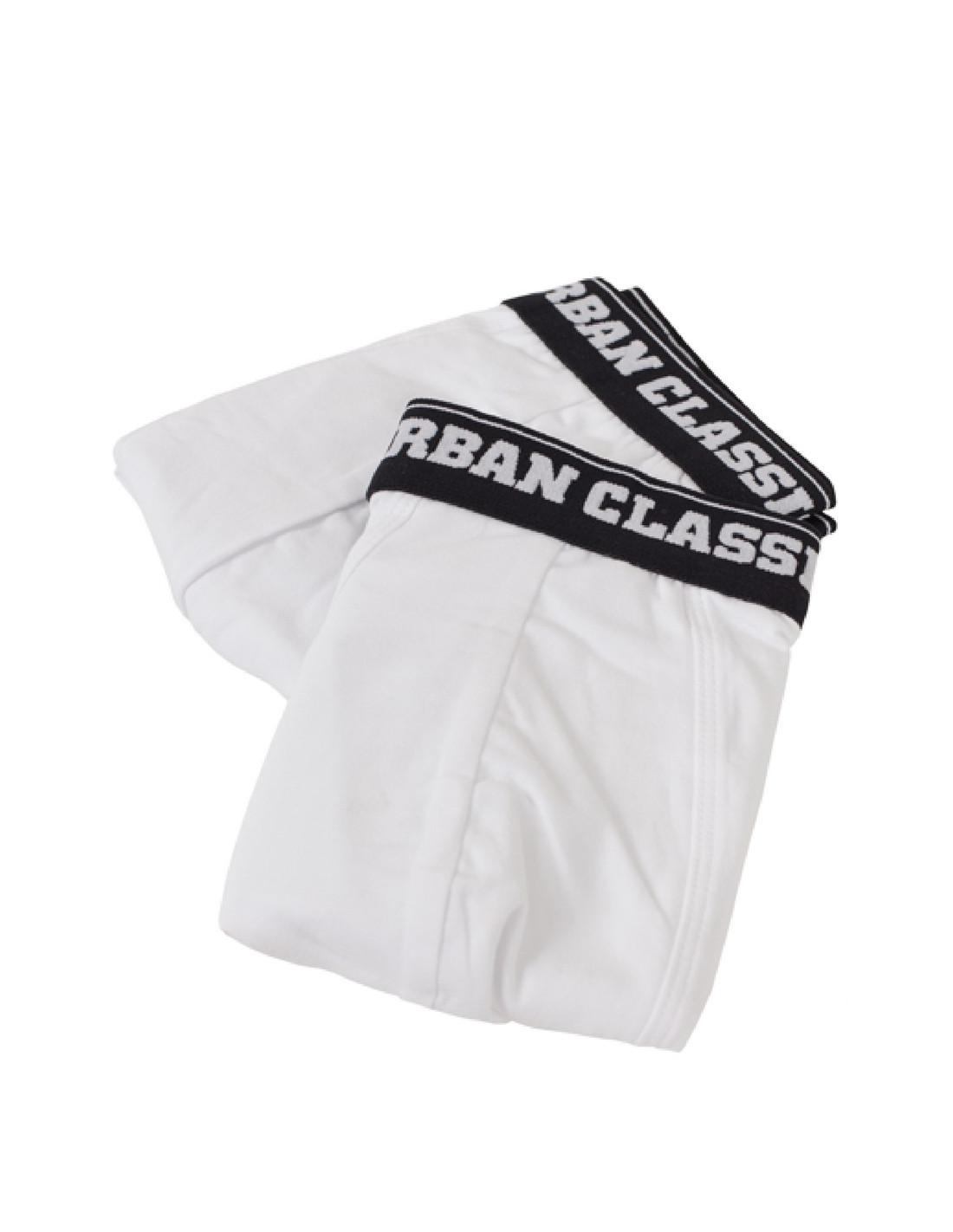 Men Boxer Shorts Double Pack White