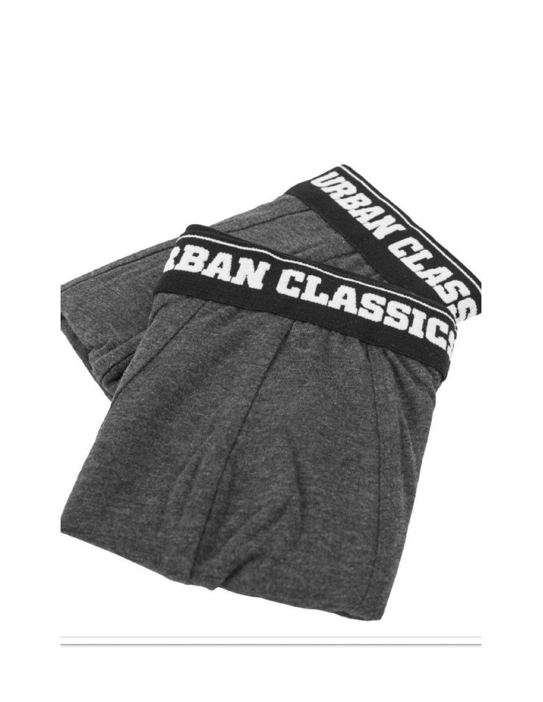 Men Boxer Shorts Double Pack Charcoal