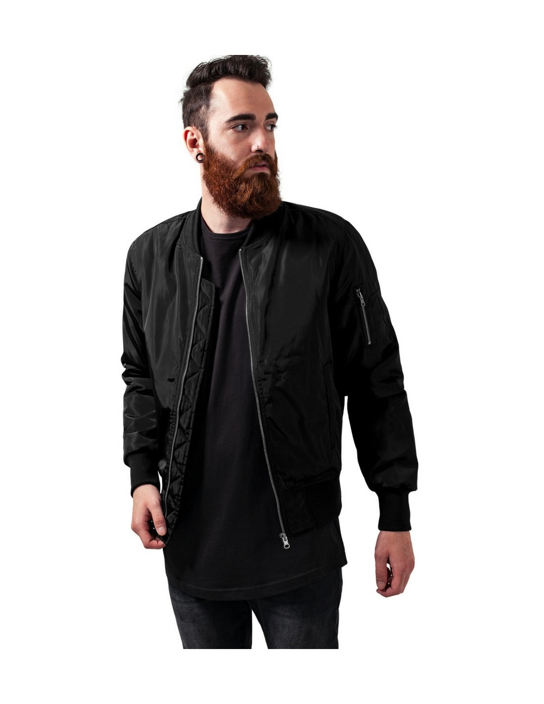2-Tone Bomber Jacket Black