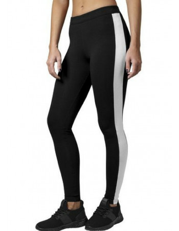 Ladies Retro Leggings Black/White
