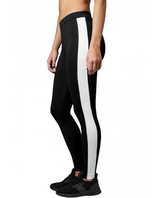 Ladies Retro Leggings Black/White