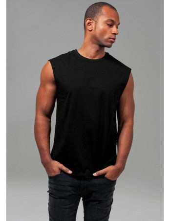 Open Edge Sleeveless Tee Black