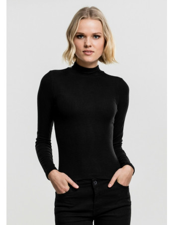 Ladies Turtleneck Longsleeve Black