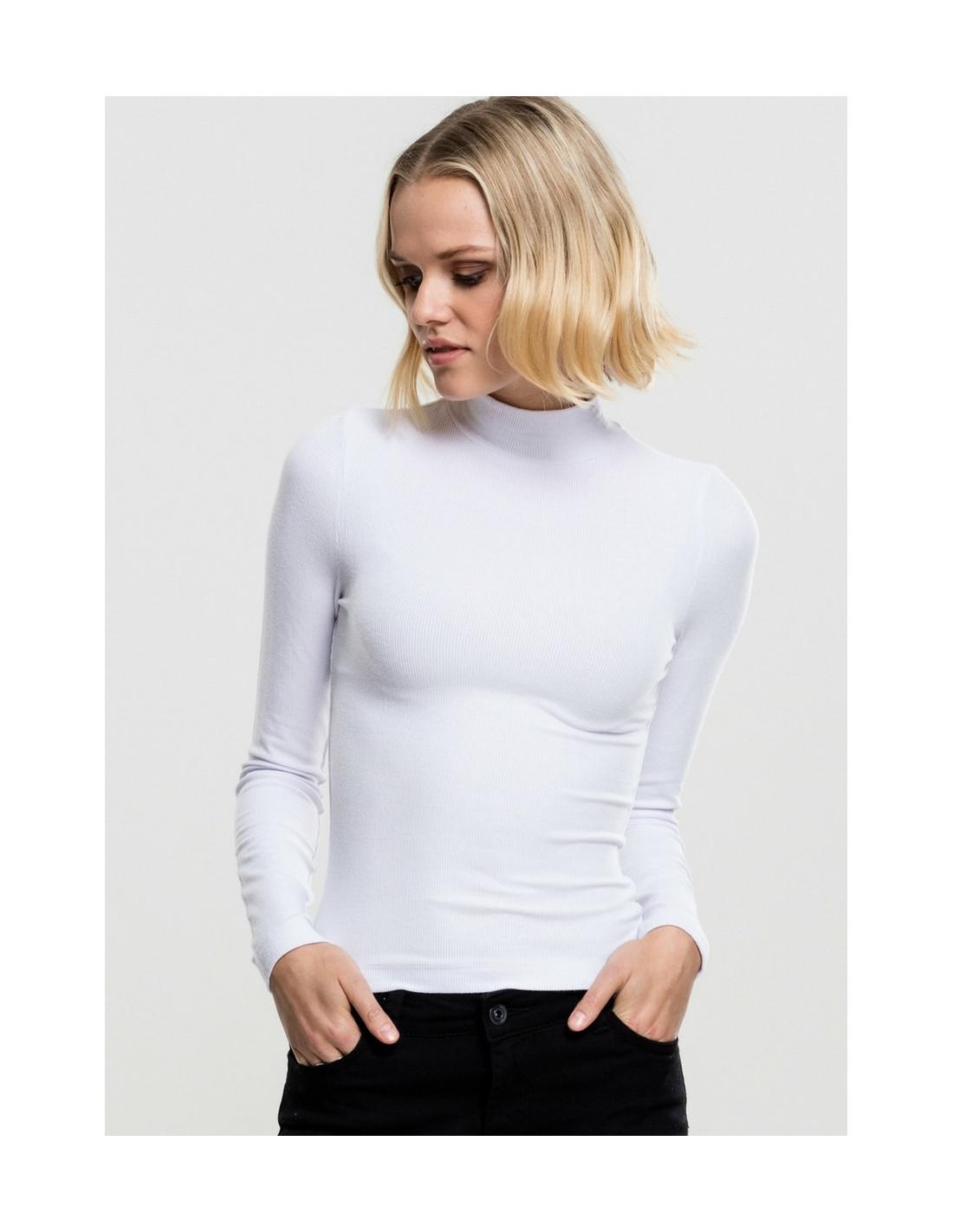 Ladies Turtleneck Longsleeve White