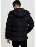 Hooded Puffer Jacket Black