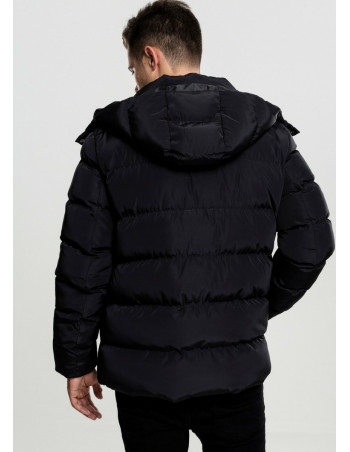 Hooded Puffer Jacket Black