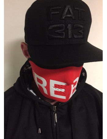 RudeCru Rebel Half Mask Red