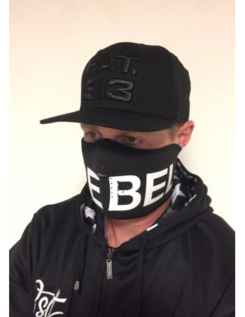 RudeCru Rebel Half Mask Black